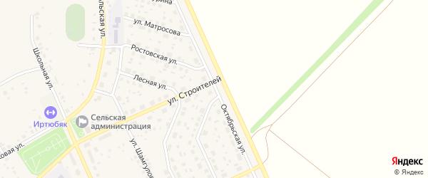 Октябрьская улица на карте села Юмагузино с номерами домов