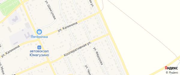 Улица Федорова на карте села Юмагузино с номерами домов