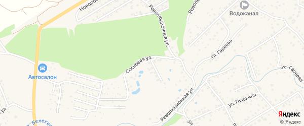 Сосновая улица на карте села Иглино с номерами домов