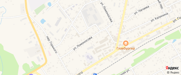 Улица Ломоносова на карте села Иглино с номерами домов
