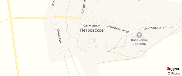 Молодежная улица на карте Семена-Петровского села с номерами домов