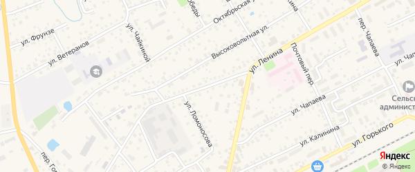 Социалистический переулок на карте села Иглино с номерами домов