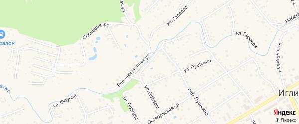Слободская улица на карте села Иглино с номерами домов