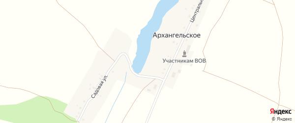 Майская улица на карте Архангельского села с номерами домов
