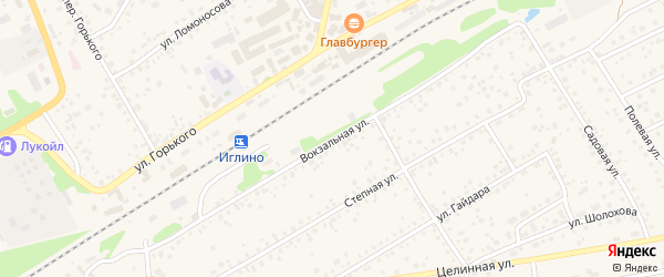 Вокзальная улица на карте села Иглино с номерами домов