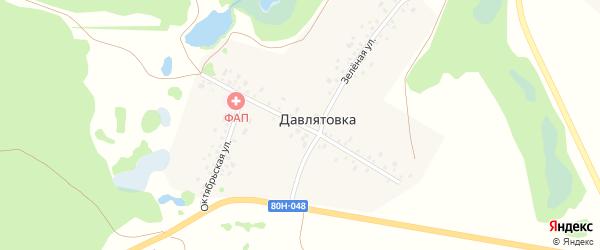 Конституционная улица на карте деревни Давлятовки с номерами домов