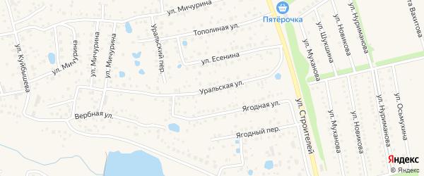Уральская улица на карте села Иглино с номерами домов