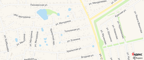 Тополиная улица на карте села Иглино с номерами домов