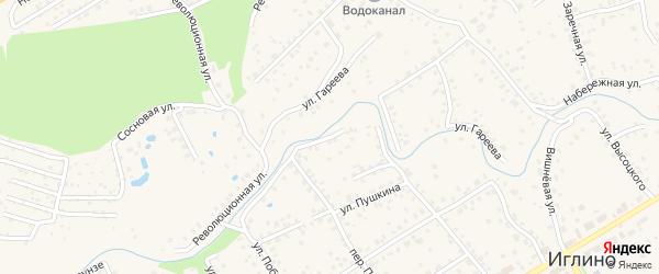Слободской переулок на карте села Иглино с номерами домов