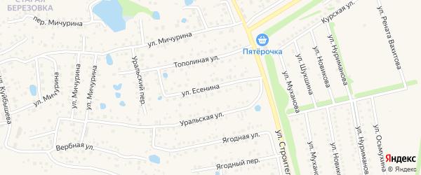 Улица Есенина на карте села Иглино с номерами домов