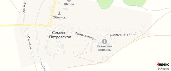Центральная улица на карте Семена-Петровского села с номерами домов