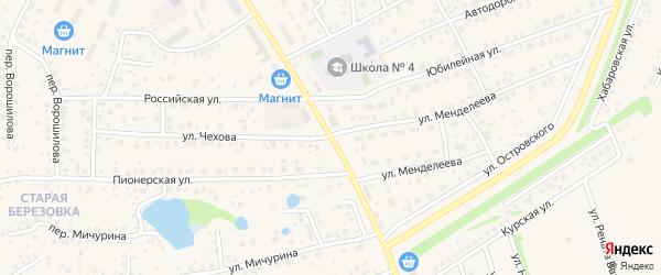 Целинная улица на карте села Иглино с номерами домов
