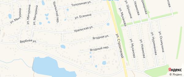 Ягодная улица на карте села Иглино с номерами домов