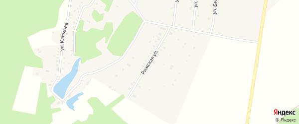 Рижская улица на карте села Иглино с номерами домов