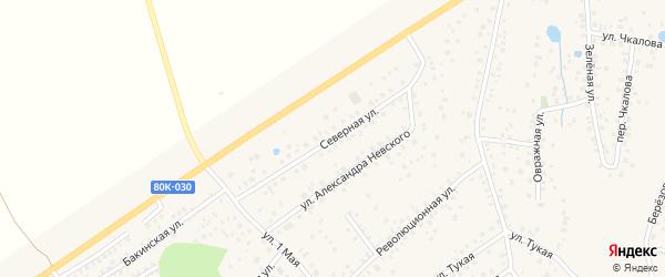 Северная улица на карте села Иглино с номерами домов
