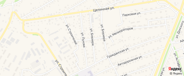 Улица Блюхера на карте села Иглино с номерами домов