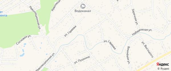 Улица Гареева на карте села Иглино с номерами домов