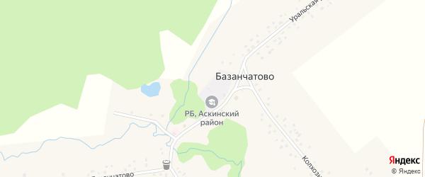 Колхозная улица на карте деревни Базанчатово с номерами домов