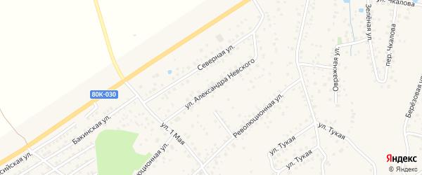 Улица Невского на карте села Иглино с номерами домов