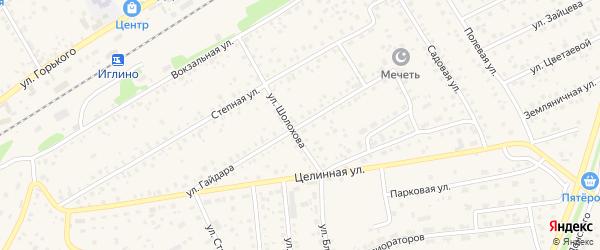 Улица Гайдара на карте села Иглино с номерами домов