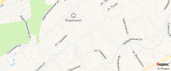 Переулок Гареева на карте села Иглино с номерами домов