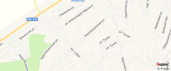 Революционная улица на карте села Иглино с номерами домов