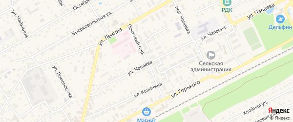 Почтовый переулок на карте села Иглино с номерами домов