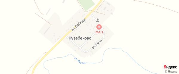 Советская улица на карте деревни Кузебеково с номерами домов