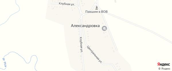 Интернациональная улица на карте деревни Александровки с номерами домов