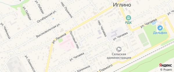 Улица Салавата на карте села Иглино с номерами домов