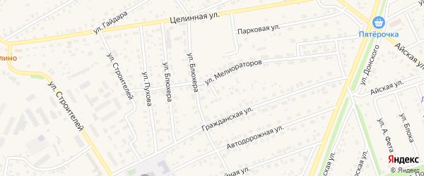 Гражданский переулок на карте села Иглино с номерами домов