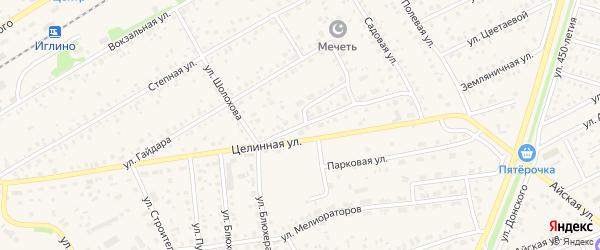 Улица Шолохова на карте села Иглино с номерами домов