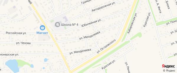 Улица Менделеева на карте села Иглино с номерами домов