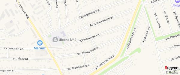 Юбилейная улица на карте села Иглино с номерами домов