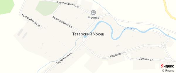 Лесная улица на карте деревни Татарского Урюша с номерами домов