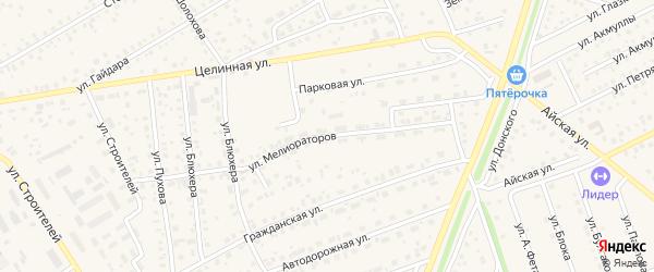Улица Мелиораторов на карте села Иглино с номерами домов