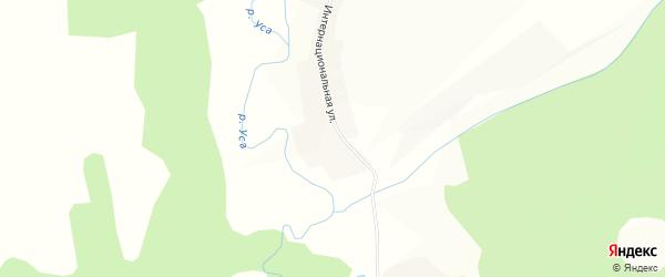 Карта деревни Быково в Башкортостане с улицами и номерами домов