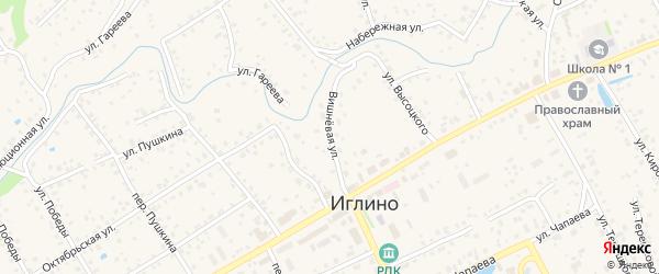 Вишневая улица на карте села Иглино с номерами домов