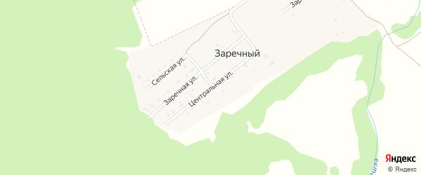 Заречная улица на карте деревни Заречного с номерами домов
