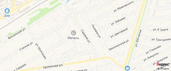Садовая улица на карте села Иглино с номерами домов