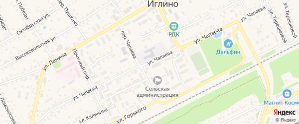Улица Чапаева на карте села Иглино с номерами домов