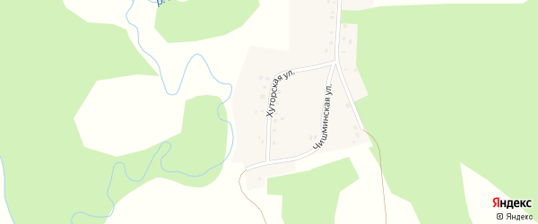 Хуторская улица на карте деревни Аркаула с номерами домов
