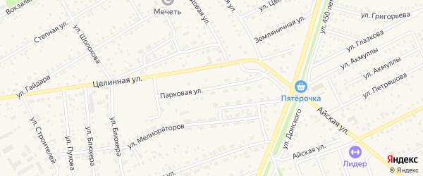 Парковая улица на карте села Иглино с номерами домов