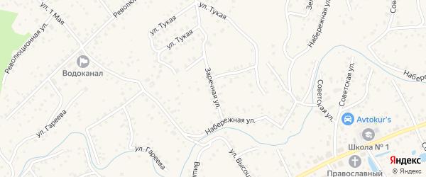 Заречная улица на карте села Иглино с номерами домов