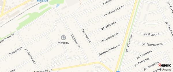 Полевая улица на карте села Иглино с номерами домов