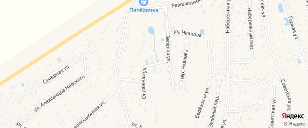 Овражная улица на карте села Иглино с номерами домов