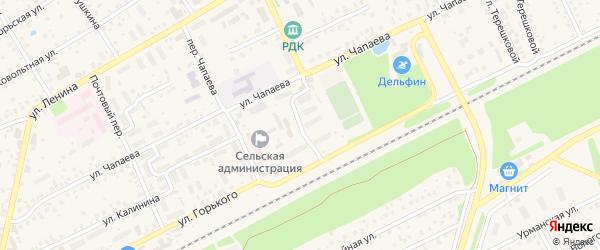 Переулок Свердлова на карте села Иглино с номерами домов