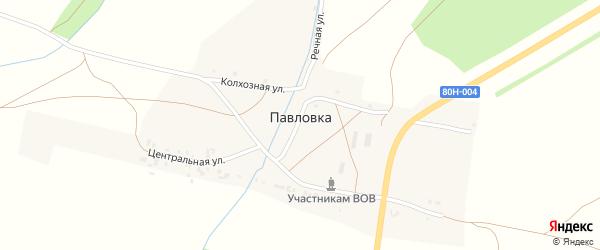 Речная улица на карте деревни Павловки с номерами домов