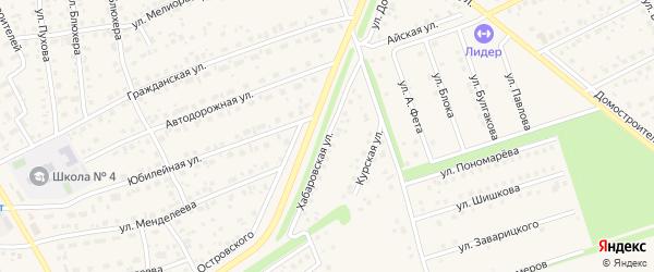 Хабаровская улица на карте села Иглино с номерами домов