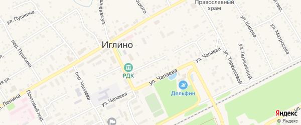 Улица Свердлова на карте села Иглино с номерами домов